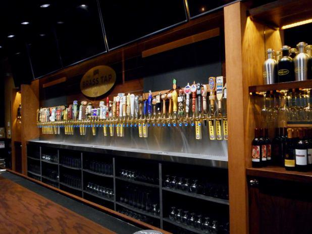 Beer Handles at Brass tap in Kalispell