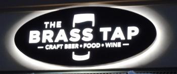Brass Tap in Kalispell Outdoor Sign.